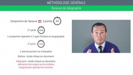 Bac géographie - Méthodologie