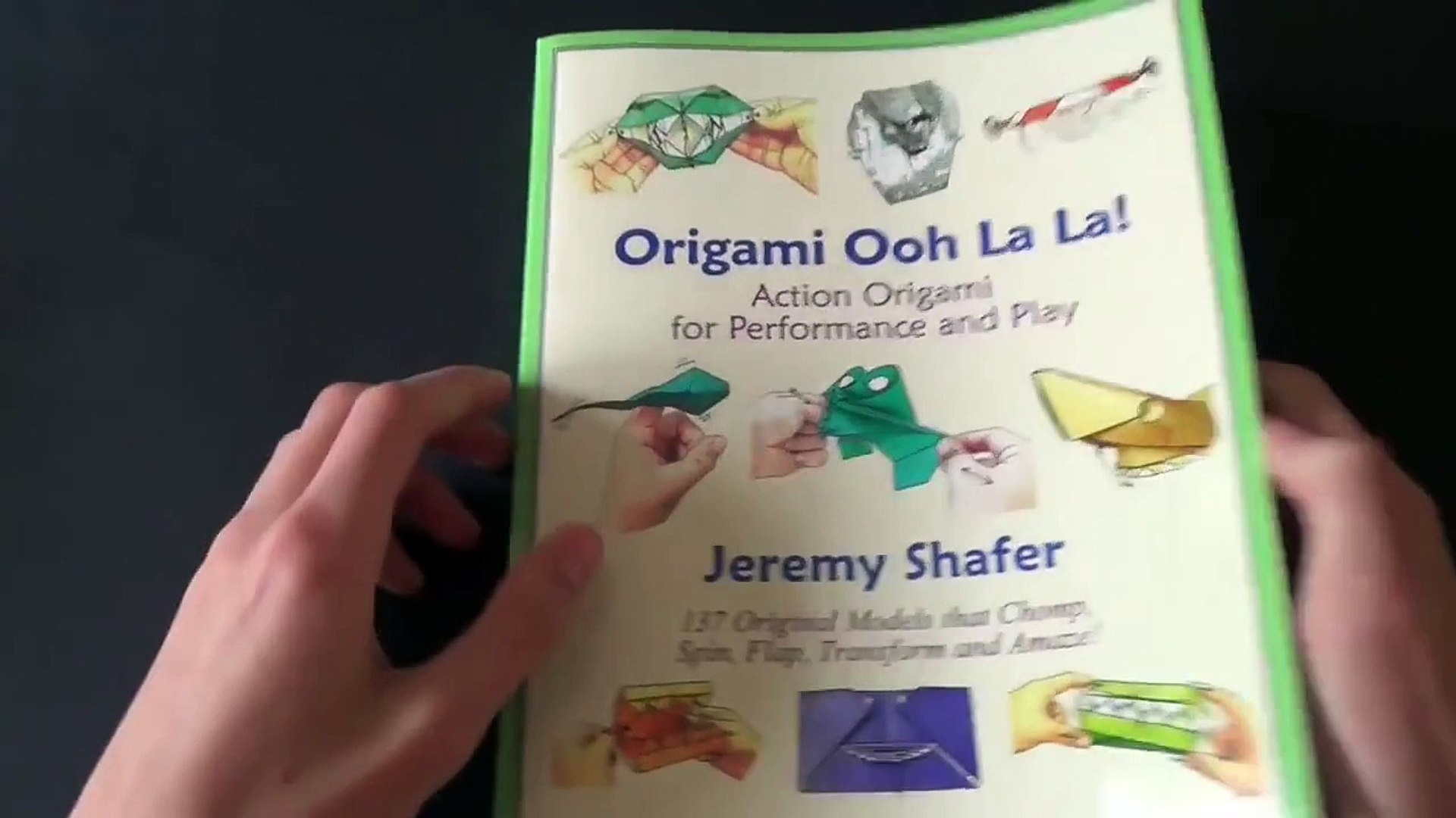 Polly the Finger-Eating Fish Origami by Jeremy Shafer - YouTube   1080x1920