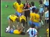Brasil Argentina Copa 82 Expulsão de Maradona / Brazil Argentina World Cup 82 Maradona sent off