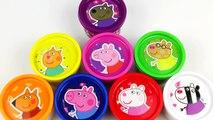 PLAY DOH CANS : PEPPA PIG SURPRISE EGGS DOUGH TOYS JUGUETES PLAY-DOH PLAYDOUGH