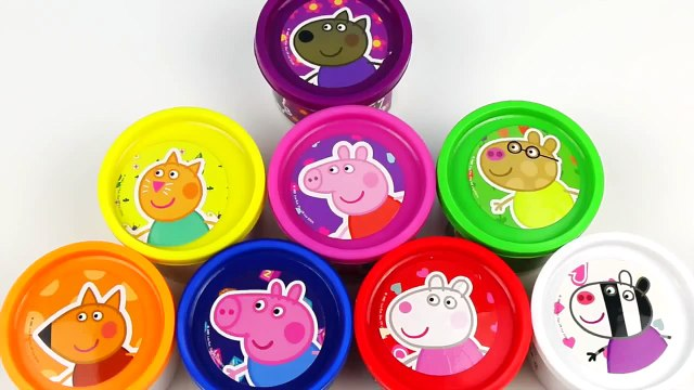 PLAY DOH CANS : PEPPA PIG SURPRISE EGGS DOUGH TOYS JUGUETES PLAY-DOH PLAYDOUGH