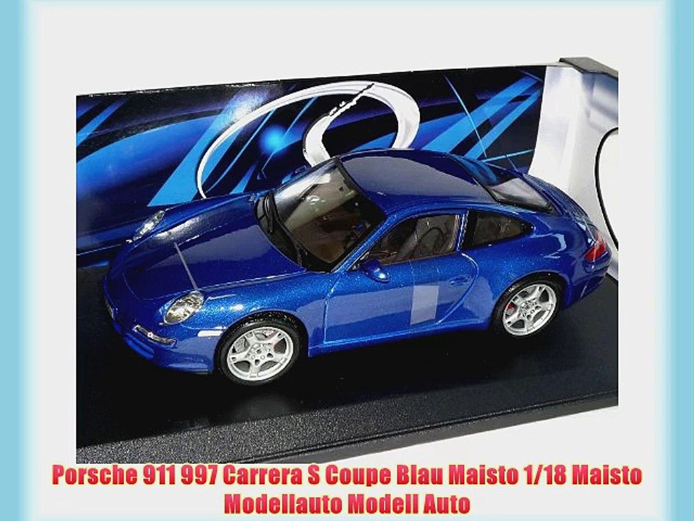 Porsche 911 997 Carrera S blau Modellauto 1:18 Maisto