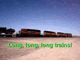 Passing desert trains
