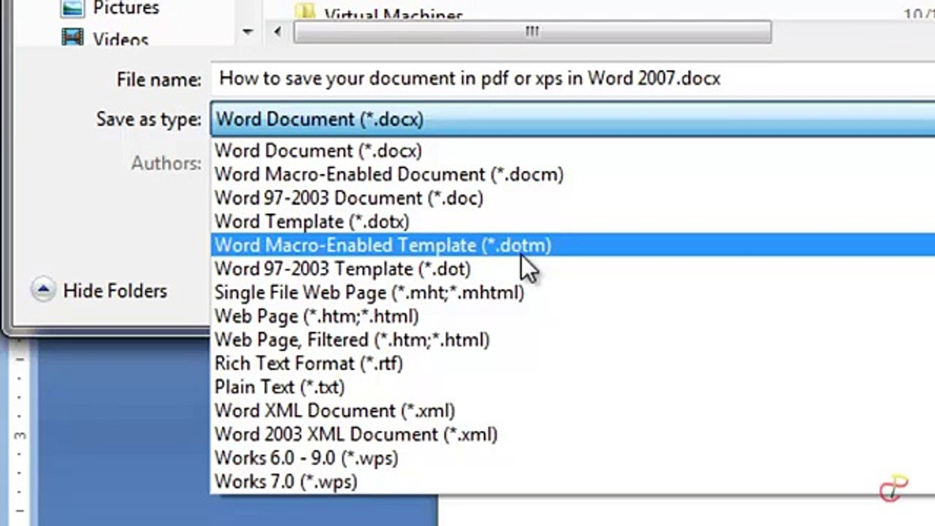 How To Convert Or Save Your Office 2007 Word Documents To PDF Or XPS