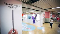 """Sony Mobile - Ambient Showcase with Mega 65"""" Interactive Transparent TV at MTR Mong Kok Station"""