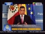 Ollanta Humala desde España Perú genera confianza por su política macroeconómica