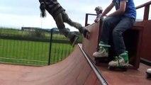 Lewis D, 9 year old inline skater, Evolution skatepark Saltcoats