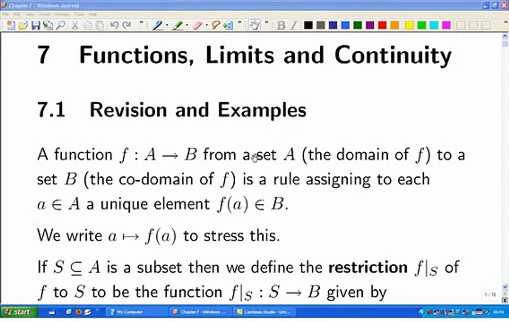 Lecture 12b: Math  Analysis - Functions, Limits and Continuity