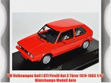 VW Volkswagen Golf I GTI Pirelli Rot 3 T?rer 1974-1983 1/43 Minichamps Modell Auto