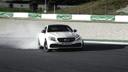 La nouvelle Mercedes C 63 AMG Coupé sur circuit