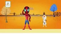 Spiderman London Bridge Nursery Rhyme | Olaf Cartoon London Bridge is Falling Down Songs For Baby