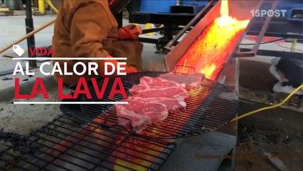 Ahora puedes cocinar tu carne en lava