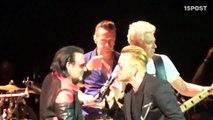 Bono de U2 y su doble de U2 Hollywood, cantan a duo
