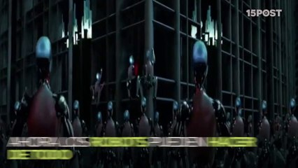 Desafío de espadas entre robot y maestro espadachín