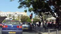 Drive through tel aviv jaffa israel highway carcam pov cars