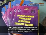 MPs distributed pamphlets on Violence on Women and Children