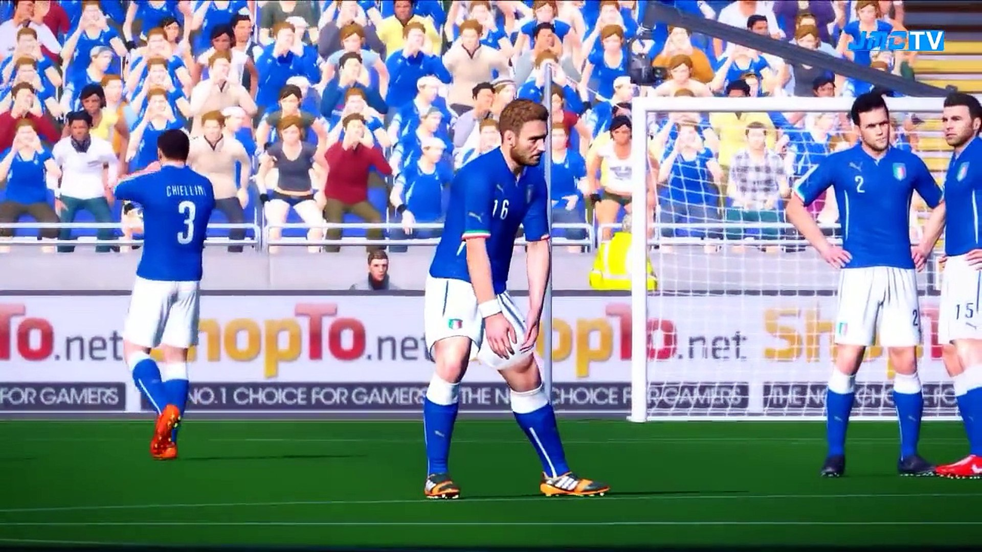 Italy vs. England | 2014 FIFA World Cup Brazil Simulation | Pro Evolution Soccer 2014 (PES 2014)