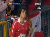 Fan goes to David Beckham in a match honoring Gary Neville 2011