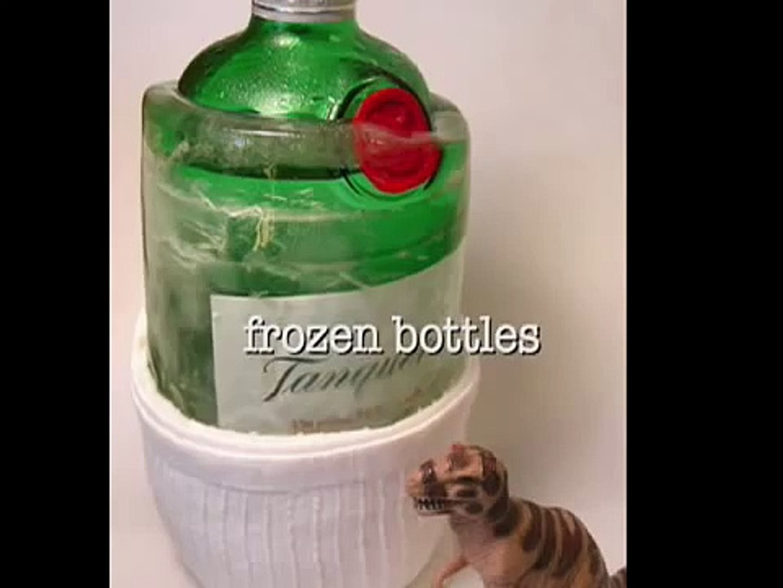 frozen bottles!