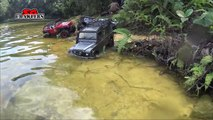 RC Offroad Trucks 4x4 River Crossing Submarines! at MacRitchie Reservoir