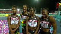 IAAF World Relays Bahamas 2014 - Mixed Zone 1 Lap Race USA Women Final Winner
