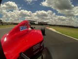 Jaki Scheckter Driving the Jean Alesi F1 Ferrari Owned by Peter Bailey- Rear Wing VIew - Heat 1.avi