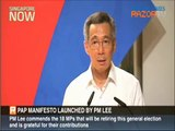 PAP's manifesto launched by PM Lee Hsien Loong