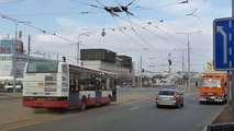 Plzeň stavba trolejbusové tratě na mostě Milénia