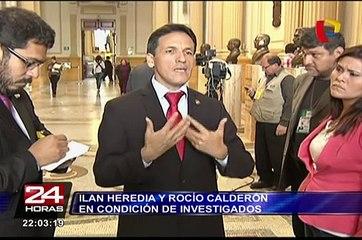 Ilan Heredia y Rocío Calderón en condición de investigados en comisión Belaunde Lossio