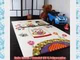 Kinder Teppiche Spielende Eulen Teppiche f?r Kinderzimmer in Creme Gr?n Lila Gr?sse:80x150