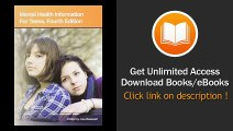 Mental Health Information for Teens Health Tips About Mental Wellness and Mental Illness Including Facts About Recognizing and Treating Mood Psychotic Behavioral - BOOK PDF