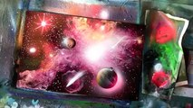 how to spray paint a spiral galaxy and underwater scene and more june 2015 spray paint art secrets