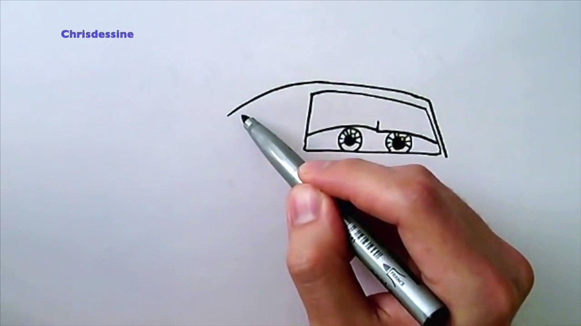 Apprendre à Dessiner Cars Flash Mcqueen En Moins De 4 Minutes