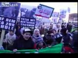 Israeli bombs and airstrikes on gaza  protested in Hamburg