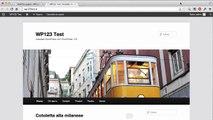 Installare WordPress con WP123 2-5 Come creare e modificare una nuova pagina