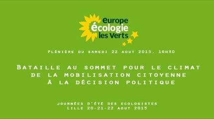 Bataille au sommet pour le climat: de la mobilisation citoyenne à la décision politique