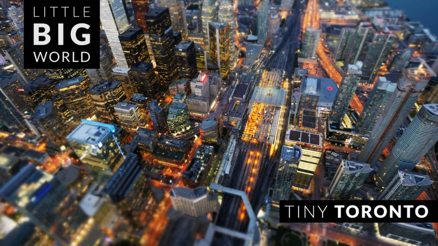 Tiny Toronto (Time Lapse - Tilt Shift - 4k)
