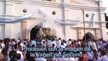 Procesión de la Virgen del Socorro en Sincé