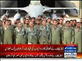 PAF Chief leading from the front - Air Chief Sohail Aman takes part in Operation Zarb-e-Azb from forward operating bases