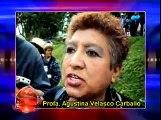 """Manifestacion alumnos-profesores de la escuela """"El Cedro"""""""