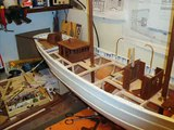 modelisme  goélette L ETOILE boat  bateau  voilier  maquette godbille gilles