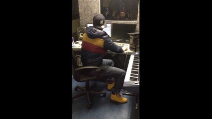 Nitti a.k.a Big Boy Recording in the Studio