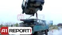 A1 Report - Shkodër, përplasen dy makina 10 persona të plagosur rëndë