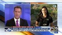 Missing hiker found dead in Phoenix