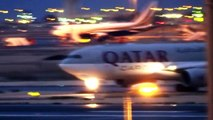 Qatar Airways Cargo / Airbus A330-243F Night Departure at Doha (HD)