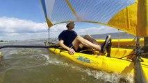 Hobie Mirage adventure island sailing kayak with GoPro 3 Black Edition
