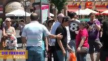 Ausschreitungen von Linksextremisten und Moslems bei FREIHEIT-Kundgebung in Nürnberg