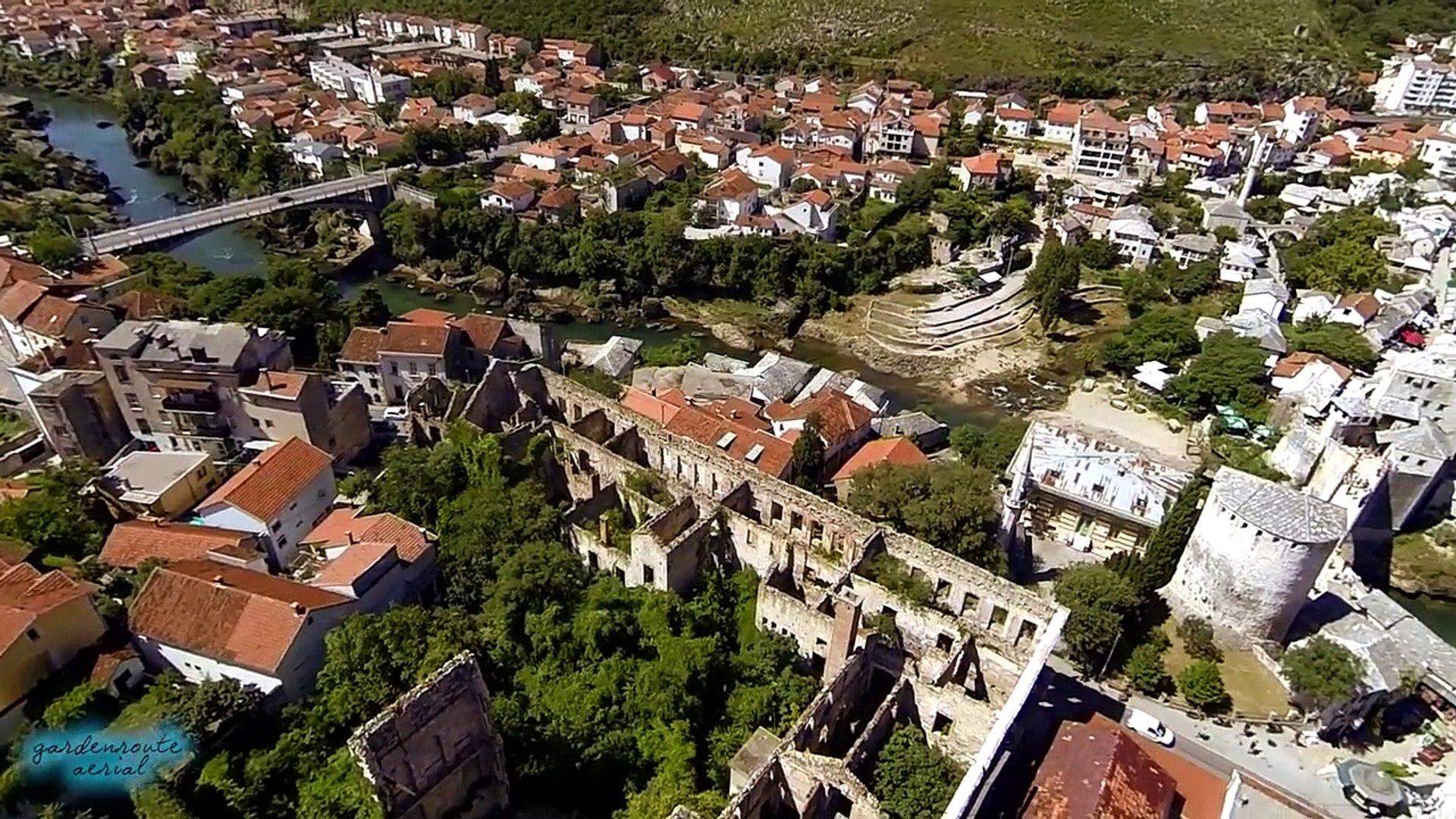 Flying over Mostar (Bosnia and Herzegovina)