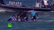 Jaw-dropping Surfer fights off shark attack live on TV in S. African competition