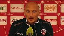 Réaction d'Olivier Pantaloni après Stade Brestois 29 - AC Ajaccio